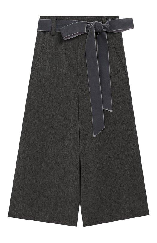 Купить 50-FP/12A-14A, Расклешенные брюки с поясом Caf, Италия, Серый, Вискоза: 50%; Полиэстер: 50%;, Женский, Брюки