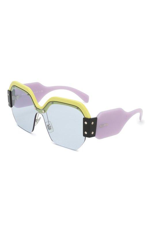 Купить Солнцезащитные очки Miu Miu, 09SS-VIV4Q2, Италия, Разноцветный, Оправа-Ацетат;