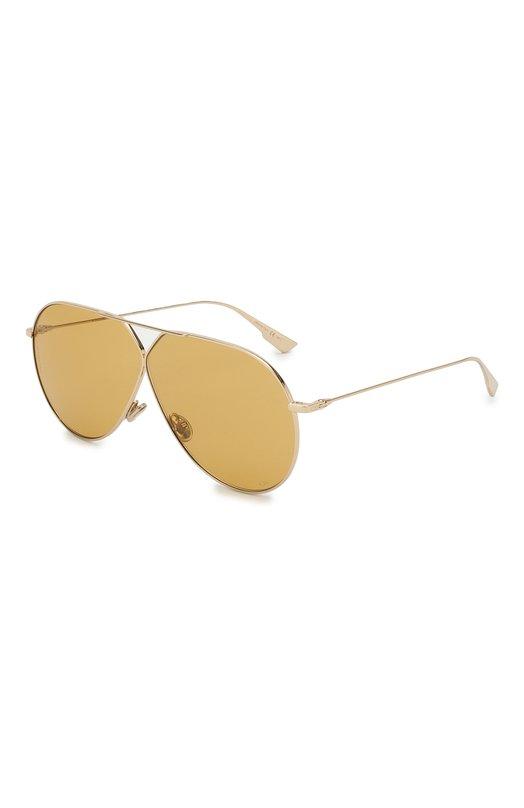 Купить Солнцезащитные очки Dior, DI0RSTELLAIRE3 J5G 70, Италия, Золотой, Линзы-Нейлон; Оправа-Металл;