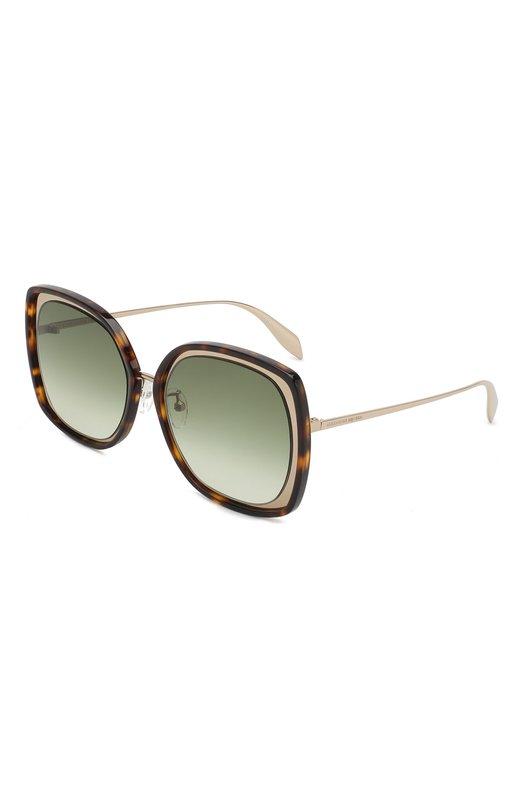 Купить Солнцезащитные очки Alexander McQueen, AM0151 005, Италия, Золотой, Линзы-Нейлон;