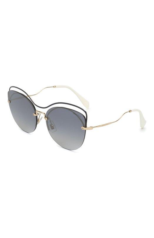 Купить Солнцезащитные очки Miu Miu, 50TS-UE63A0, Италия, Черный, Оправа-Металл;