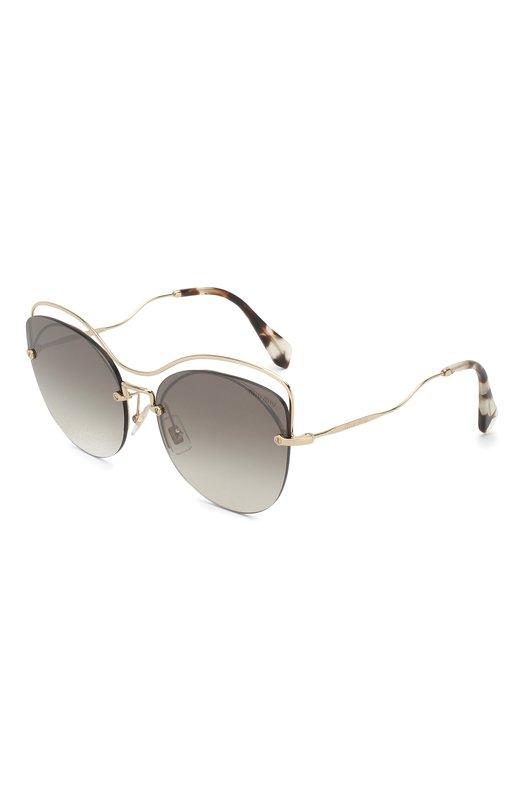 Купить Солнцезащитные очки Miu Miu, 50TS-ZVN500, Италия, Темно-серый, Оправа-Металл;