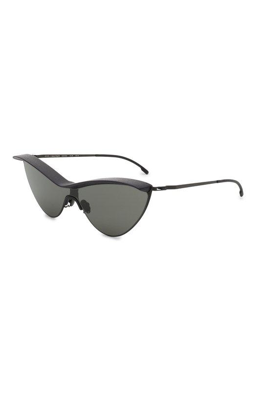 Купить Солнцезащитные очки Maison Margiela, MMECH0 002/PITCHBLACK/BLACK/DARKGREY, Германия, Черный