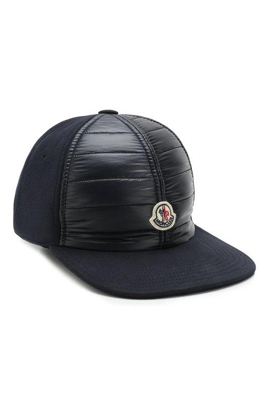 Купить Хлопковая бейсболка Moncler, D2-091-00965-00-80985, Македония, Темно-синий, Хлопок: 100%;