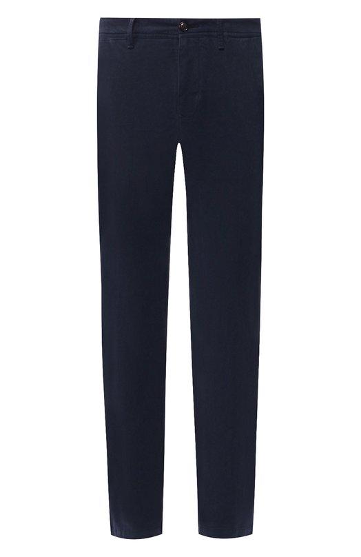 Купить Хлопковые брюки прямого кроя Moncler, D2-091-11006-40-54515, Румыния, Темно-синий, Хлопок: 97%; Эластан: 3%;