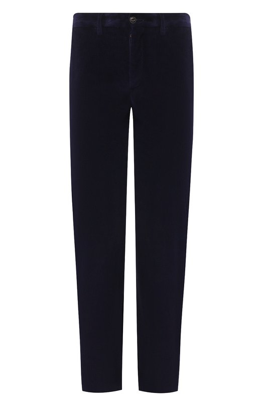 Купить Хлопковые брюки прямого кроя Moncler, D2-091-11424-00-549K4, Румыния, Темно-синий, Хлопок: 100%;