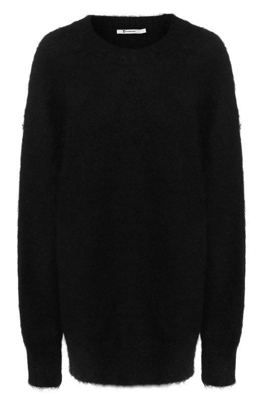 Купить Вязаный пуловер с круглым вырезом T by Alexander Wang, 4K381042J5, Китай, Черный, Мохер: 56%; Полиамид: 34%; Шерсть: 10%;