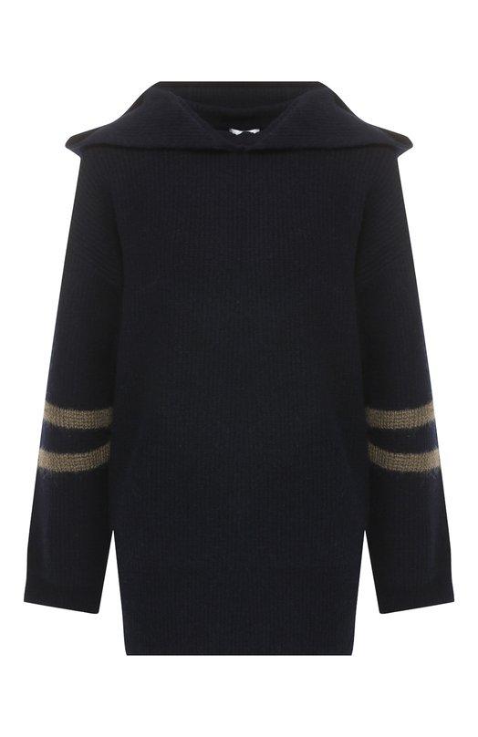 Купить Шерстяной пуловер с капюшоном Escada Sport, 5027692, Китай, Темно-синий, Шерсть: 64%; Полиамид: 34%; Эластан: 2%;