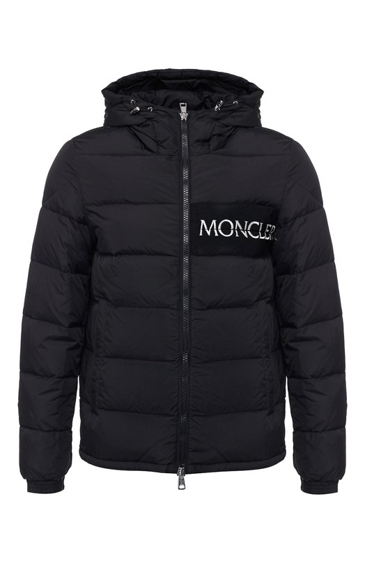 Купить Пуховая куртка Aiton на молнии с капюшоном Moncler, D2-091-41884-05-68352, Румыния, Черный, Наполнитель-Гусиный пух: 90%; Подкладка-Полиамид: 100%; Полиамид: 100%; Наполнитель-Гусиное перо: 10%;
