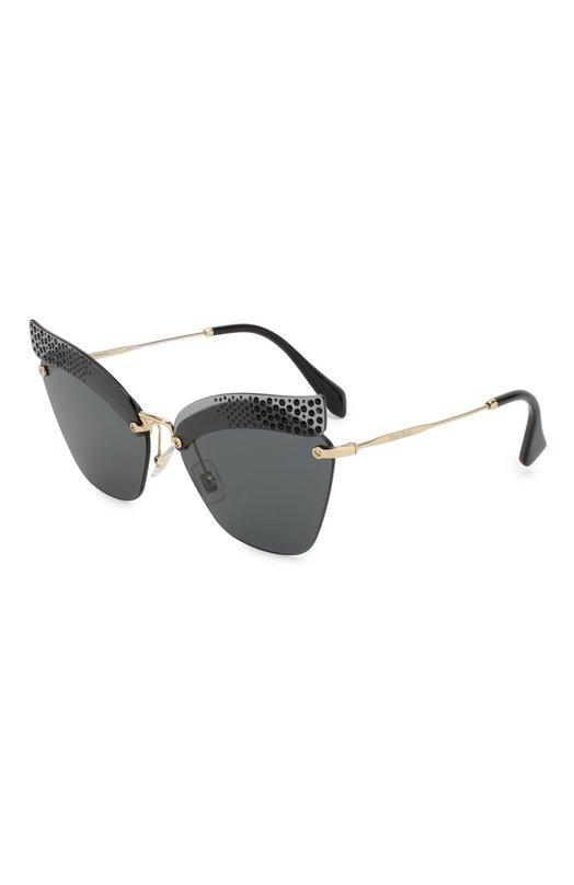 Купить Солнцезащитные очки Miu Miu, 56TS-XEJ1A1, Италия, Черный, Оправа-Металл;