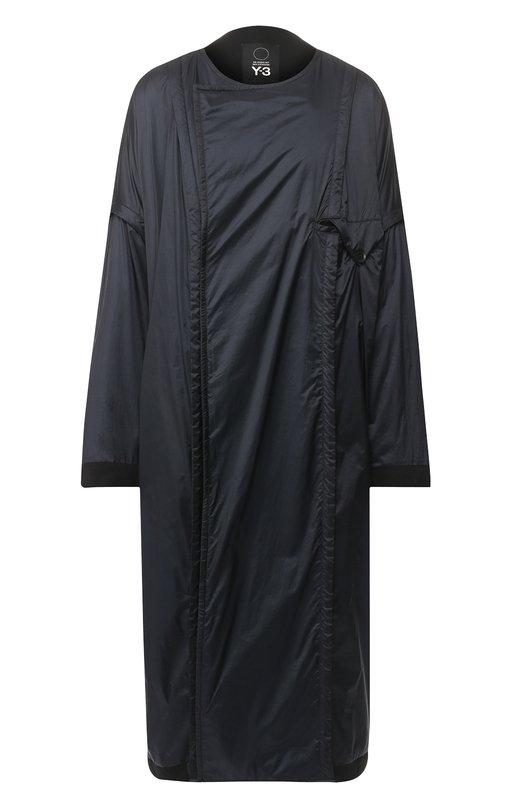 Купить Пальто свободного кроя с накладным карманом Y-3, DP0747/W, Китай, Черный, Полиамид: 100%; Подкладка-текстиль: 100%;