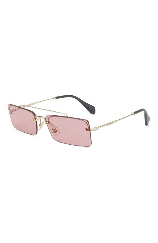 Купить Солнцезащитные очки Miu Miu, 59TS-ZVN9G1, Италия, Розовый, Оправа-Металл;