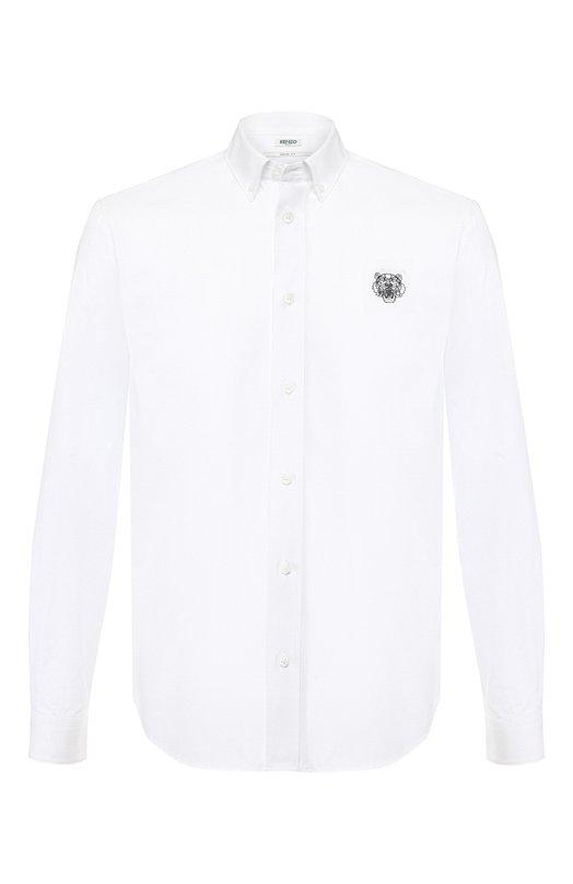 Купить Хлопковая рубашка с воротником button down Kenzo, 5CH4001LB, Румыния, Белый, Хлопок: 100%;