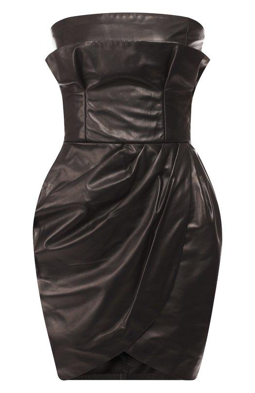 Купить Кожаное мини-платье Versace, A81159/A227281, Италия, Черный, Кожа: 100%;