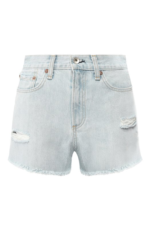 Купить Джинсовые шорты с потертостями Rag&Bone, W1953K165GWH, США, Голубой, Хлопок: 100%;