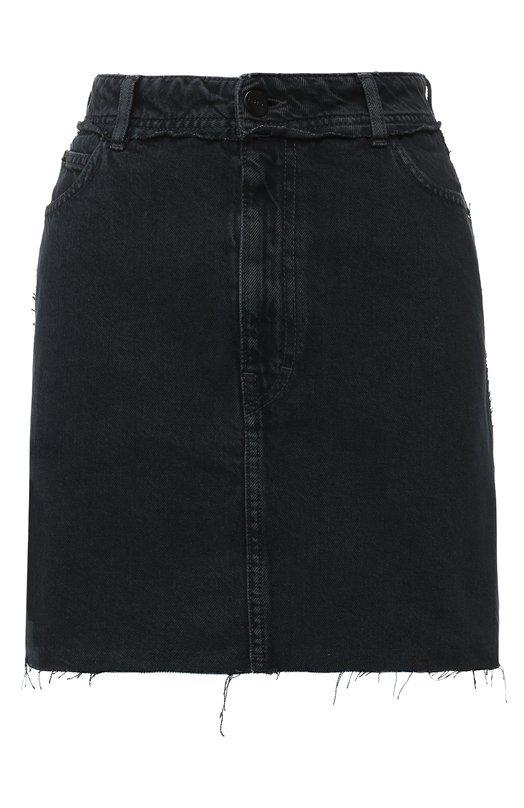 Купить Джинсовая мини-юбка с карманами Iro, 18WWP31CAFE, Италия, Синий, Хлопок: 100%;