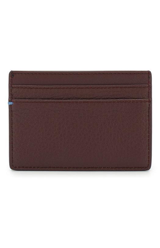 Купить Кожаный футляр для кредитных карт Smythson, 1021709, Италия, Бордовый, Кожа: 100%;