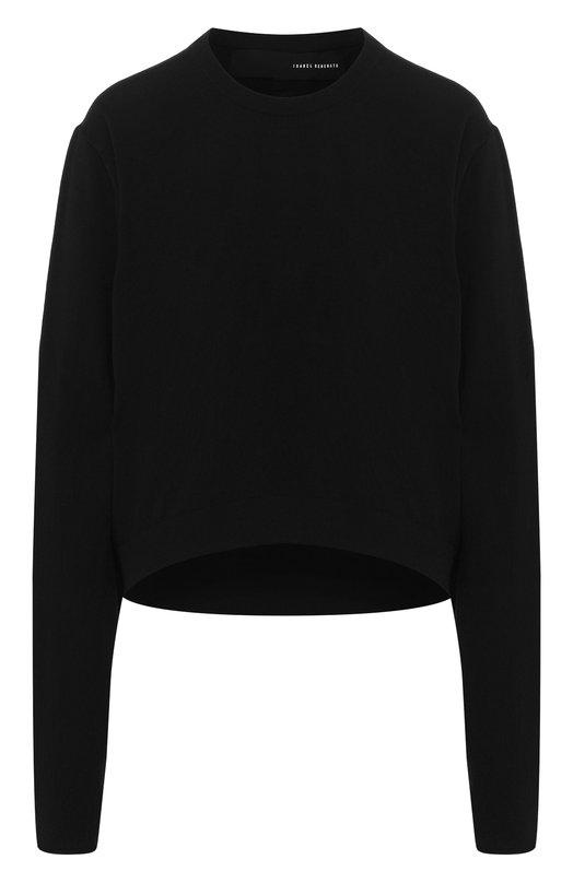Купить Вязаный пуловер с круглым вырезом Isabel Benenato, DK51F18, Италия, Черный, Мохер: 63%; Полиамид: 37%;