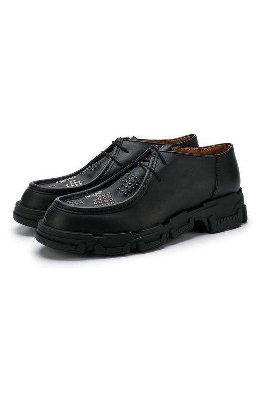 Кожаные дерби на шнуровке Lanvin