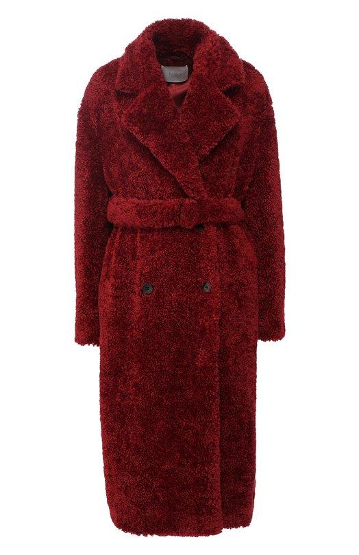 Купить Двубортное пальто в поясом BOSS, 50396614, Китай, Красный, Полиэстер: 100%; Подкладка-купро: 100%; хлопок: 100%;