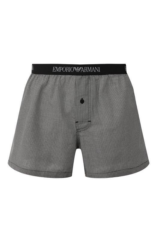 Купить Хлопковые боксеры свободного кроя Emporio Armani, 110991/8A576, Вьетнам, Серый, Хлопок: 100%;