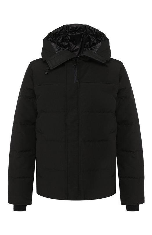 Купить Пуховая куртка Macmillan на молнии с капюшоном Canada Goose, 3804MB, Канада, Черный, Полиэстер: 85%; Хлопок: 15%; Подкладка-Полиамид: 100%; Наполнитель-Гусиный пух: 100%;