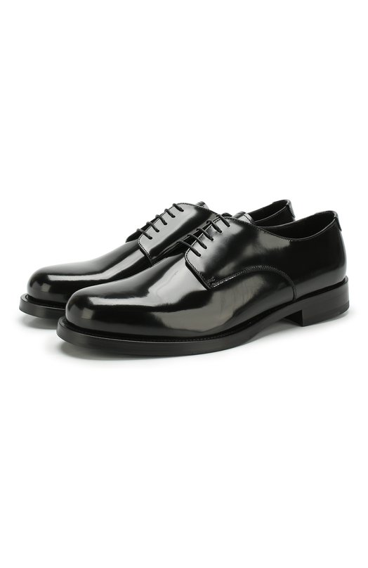 Кожаные дерби на шнуровке Emporio Armani