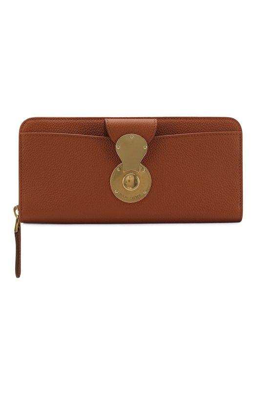 Купить Кожаный кошелек Ricky на молнии Ralph Lauren, 434728941, Италия, Коричневый, Кожа натуральная: 100%;
