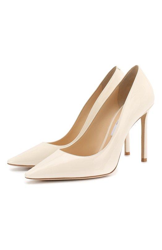 Купить Лаковые туфли Romy 100 на шпильке Jimmy Choo, R0MY 100/PAT, Италия, Белый, кожа: 100%; Кожа: 100%; Кожа натуральная: 100%; Низ-кожа: 100%; Подкладка-кожа: 100%; Подошва-кожа: 100%; Стелька-кожа: 100%;