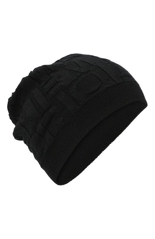 Купить Шерстяная шапка фактурной вязки Emporio Armani, 6Z1406/1MA5Z, Италия, Черный, Шерсть: 51%; Акрил: 49%;