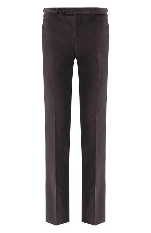 Купить Хлопковые брюки прямого кроя Pal Zileri, N3110--K---42015, Италия, Коричневый, Хлопок: 98%; Эластан: 2%;