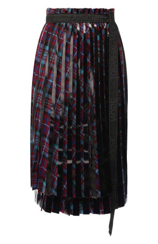 Купить Плиссированная юбка с запахом Nude, 1103335, Италия, Разноцветный, Вискоза: 5%; Акрил: 40%; Полиэстер: 30%; Шерсть: 25%;