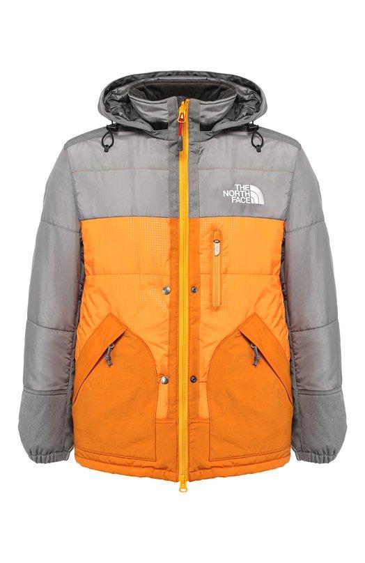 Купить Утепленная куртка Junya Watanabe x The North Face на молнии с капюшоном Junya Watanabe, WB-J102-051, Япония, Разноцветный, Полиэстер: 65%; Хлопок: 35%; Подкладка-Полиэстер: 100%; Набивка-Полиэстер: 100%;