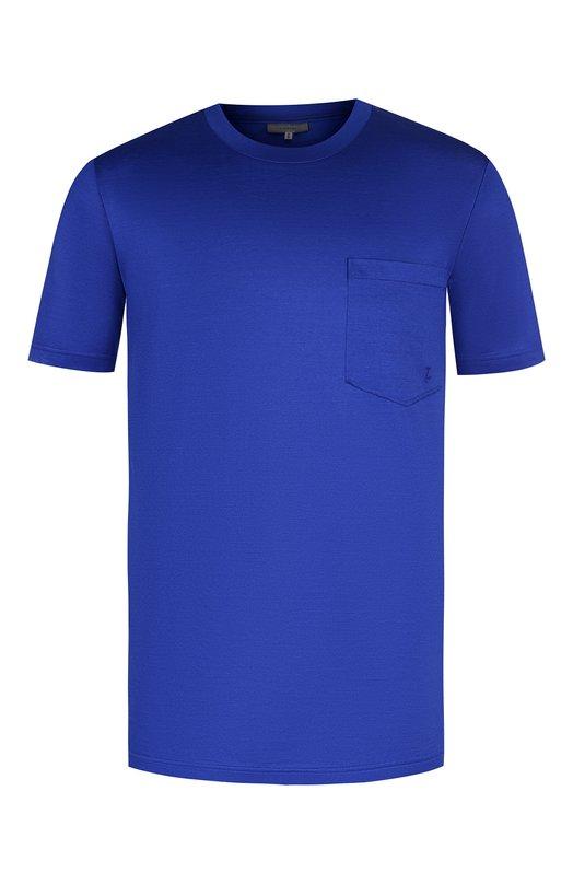 Купить Хлопковая футболка с круглым вырезом Lanvin, RMJE0015A18, Италия, Голубой, Хлопок: 100%;