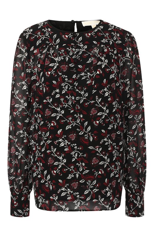 Купить Блуза с круглым вырезом и принтом MICHAEL Michael Kors, MF84LLY9UU, Китай, Разноцветный, Полиэстер: 100%;