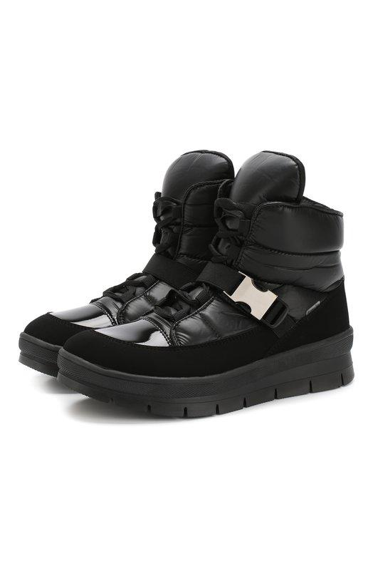 Купить Утепленные ботинки на шнуровке Jog Dog, 14052R-R/TU0N0ZAFFBALTIC0/W, Румыния, Черный, Подошва-резина: 100%; Текстиль: 100%; Подкладка-текстиль: 100%;