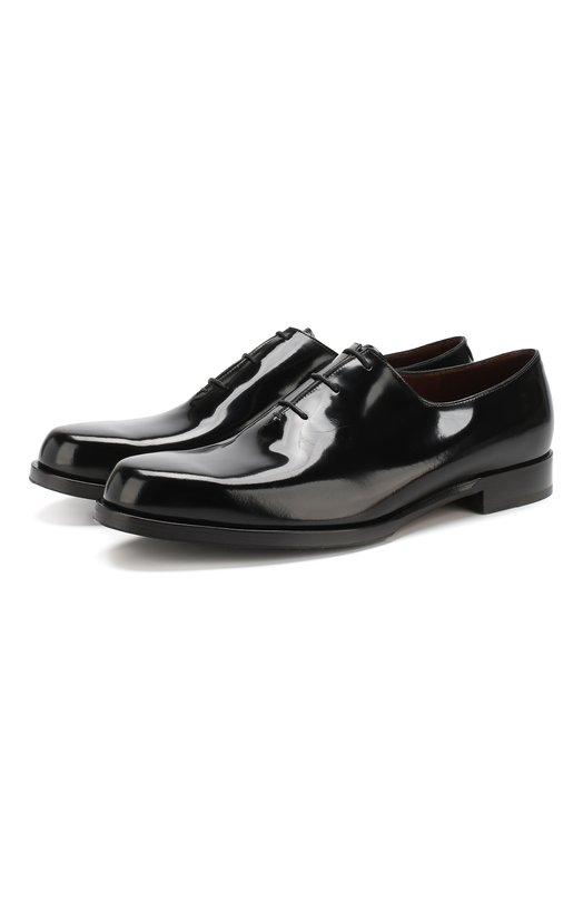 Купить Кожаные оксфорды на шнуровке Fratelli Rossetti, 12598/22501, Италия, Черный, Подошва-Кожа: 100%; Подкладка-Кожа: 100%; Кожа: 100%;