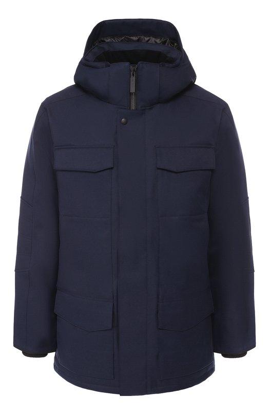 Купить Пуховая куртка Windermere на молнии с капюшоном Canada Goose, 2579M, Канада, Синий, Полиэстер: 100%; Подкладка-Полиэстер: 100%; Наполнитель-Гусиный пух: 100%;