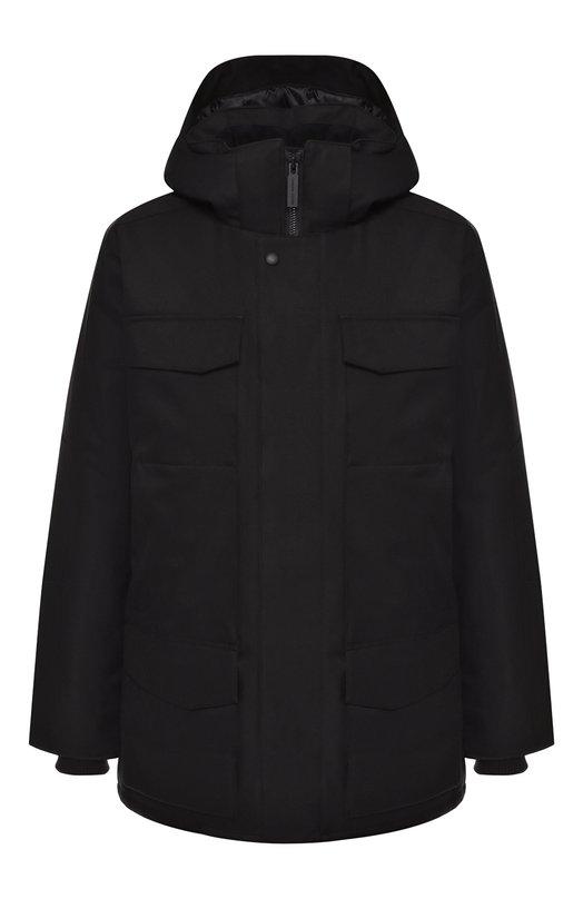 Купить Пуховая куртка Windermere на молнии с капюшоном Canada Goose, 2579M, Канада, Черный, Полиэстер: 100%; Подкладка-Полиэстер: 100%; Наполнитель-Гусиный пух: 100%;