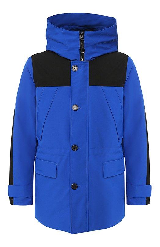 Купить Утепленная куртка на молнии с капюшоном Kenzo, 50U2181NK, Китай, Синий, Полиамид: 100%; Полиэстер: 100%; Подкладка-Текстиль: 100%;