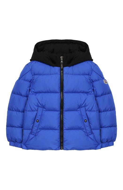 Купить Куртка на молнии с капюшоном Moncler Enfant, D2-954-41880-85-68352/4-6A, Армения, Синий, Полиамид: 100%; Подкладка-полиамид: 100%;