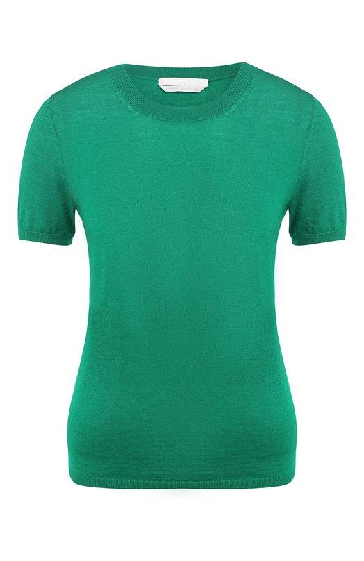 Купить Однотонный шерстяной пуловер с круглым вырезом BOSS, 50392927, Китай, Зеленый, Шерсть: 100%;