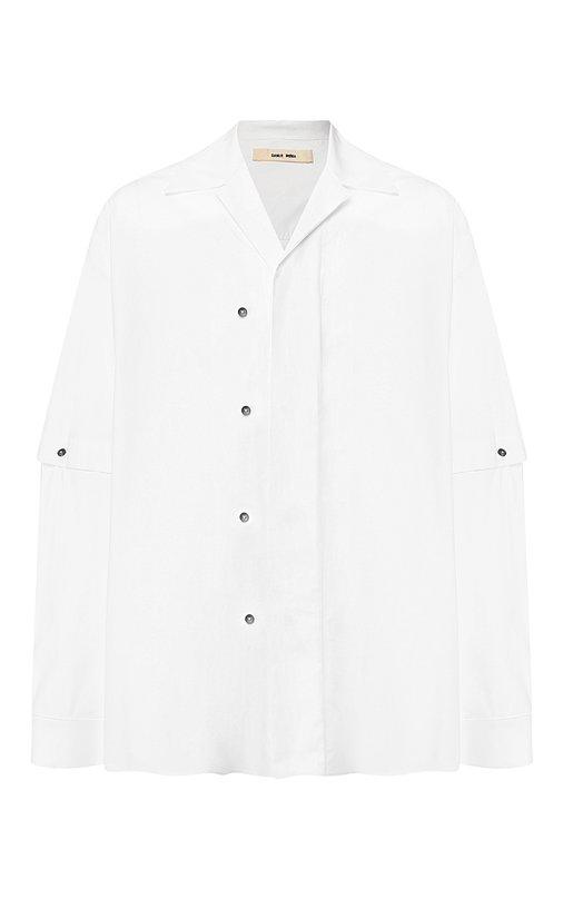 Купить Хлопковая рубашка свободного кроя с декоративной отделкой Damir Doma, CF1M0001/F2544, Италия, Белый, Хлопок: 100%;