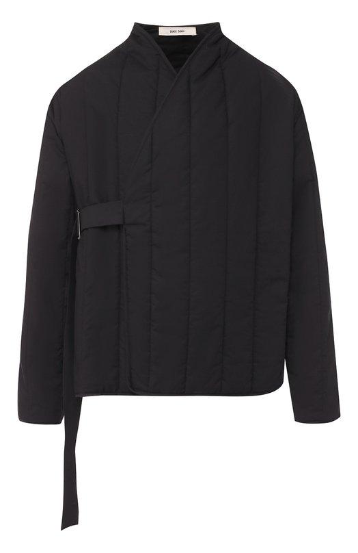 Купить Хлопковая стеганая куртка с декоративной застежкой Damir Doma, CF1M0058/F2544, Италия, Черный, Хлопок: 100%; Подкладка-полиэстер: 100%;