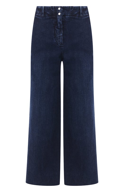 Купить Укороченные джинсы с потертостями Loro Piana, FAI2679, Италия, Синий, Хлопок: 98%; Эластан: 2%;