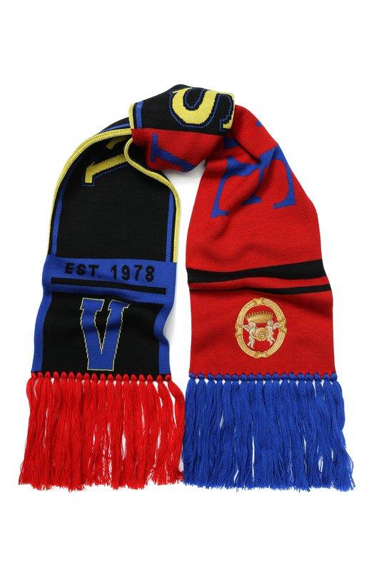 Шерстяной шарф с бахромой Versace