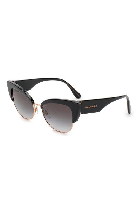 Купить Солнцезащитные очки Dolce & Gabbana, 4346-501/8G, Италия, Черный, Линзы- Пластик; Оправа-Ацетат;