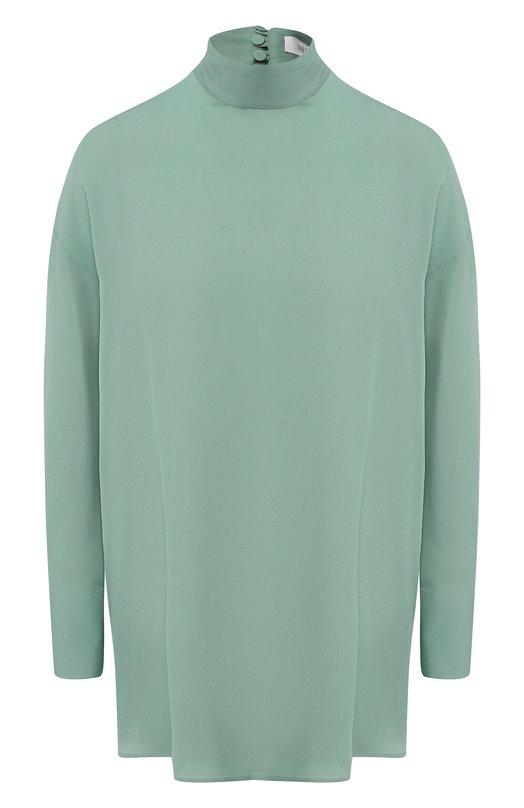 Купить Шелковая блуза с шарфом Valentino, QB0AE01E1MH, Италия, Светло-зеленый, Шелк: 100%;