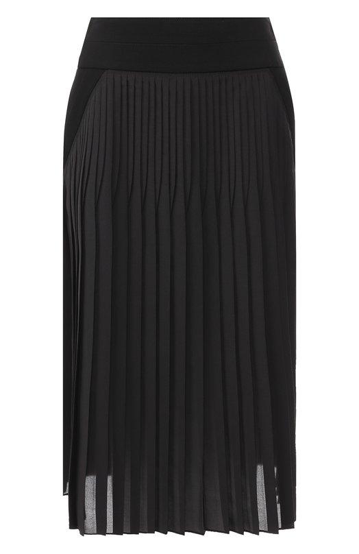 Купить Плиссированная юбка-миди Givenchy, BW403P10WH, Италия, Черный, Шелк: 55%; Полиэстер: 45%;