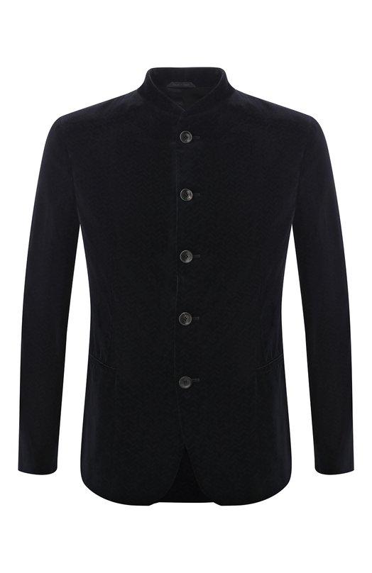 Однобортный пиджак с воротником-стойкой Giorgio Armani